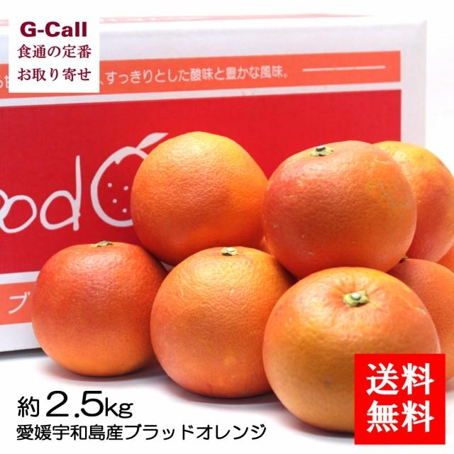 送料無料 愛媛宇和島産ブラッドオレンジ 約2.5kg 段ボール箱 ご家庭用