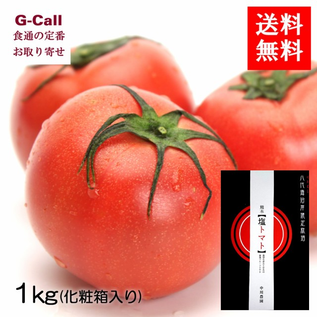 送料無料 熊本県 中川農園の塩トマト 約1kg 8〜18玉 化粧箱入