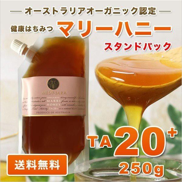 マリーハニー TA 20+ 250g スタンドパック マヌカハニーと同様の健康活性力 分析証明書付 オーガニック認定 はちみつ 蜂蜜 非加熱