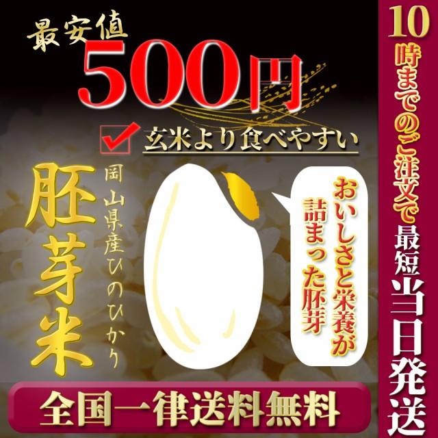 胚芽米 令和2年度岡山県産ヒノヒカリ胚芽米600g 送料無料 ポイント消化 お試し お米 安い ひのひかり一等米 メール便 関西のコシヒカリ
