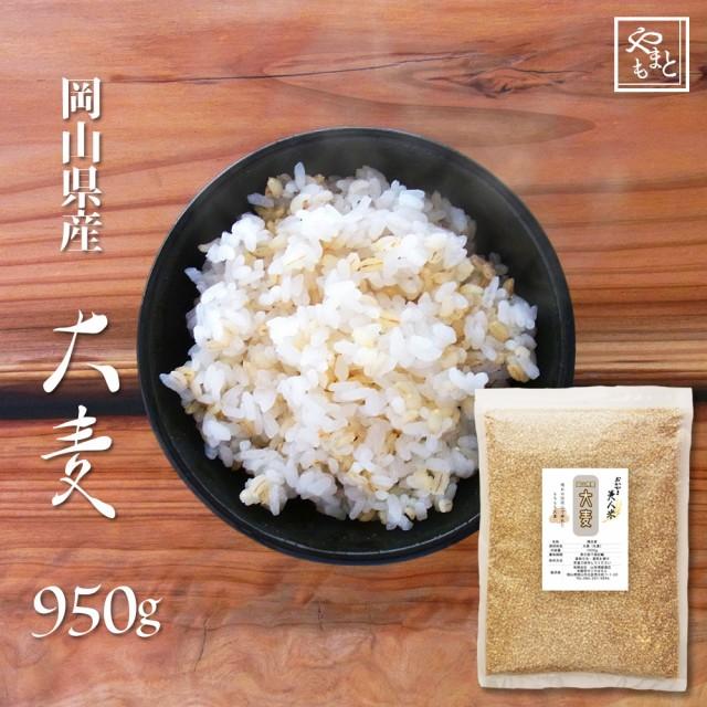 令和元年 新麦 国産大麦(丸麦) 950g もち麦の代わりに 送料無用 安い お試し おすすめ ポイント消化 ぽっきり 岡山県産100% 1キロ以下