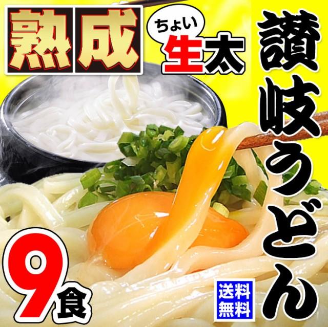 激ウマ 讃岐 熟成 生ちょい太 うどん ドーンと 9食 便利な個包装 300g×3袋 900g 送料無料