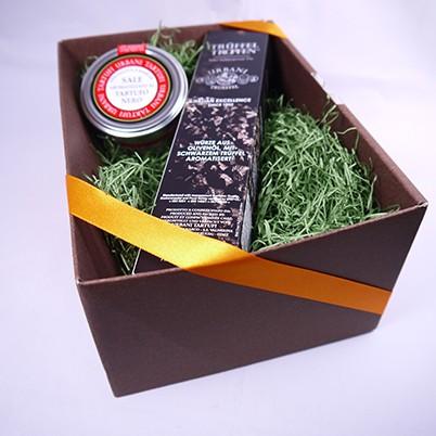 ウルバーニ社 黒トリュフオイル 黒トリュフ塩 セット ギフトボックス付き