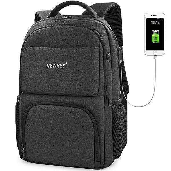 6829ae40289e [ニューヘイ]ビジネスリュック PCバッグ リュックサック メンズ 防水 USB充電ポート 盗難防止