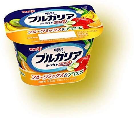 【冷蔵】【送料無料】明治 ブルガリアYG 脂肪0フルーツアロエ 180gX10個