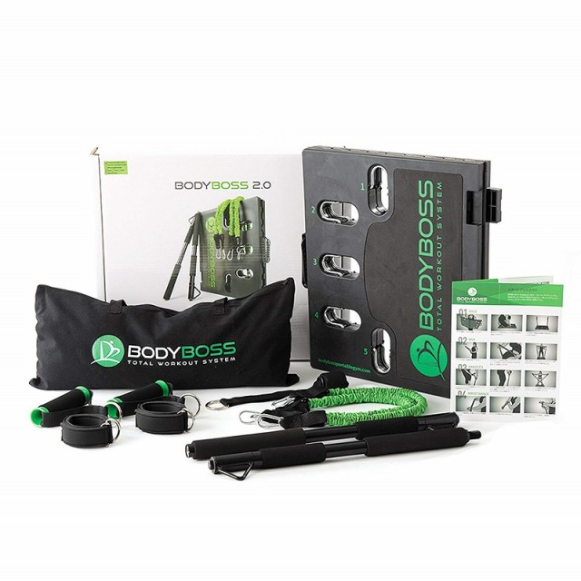 【国内正規品】BODYBOSS 2.0 ボディボス グリーン ポータブル フィットネスジム 標準パッケージ