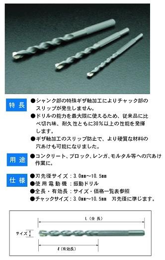 BM ギザ軸ドリル G-6.0mm