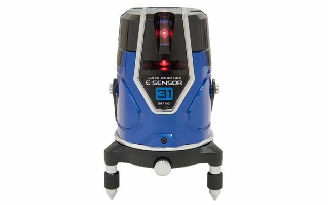シンワ測定 レーザー墨出し器 レーザーロボ Neo E Sensor 31 縦・横・大矩・地墨 本体のみ 受光器と三脚無し 71503