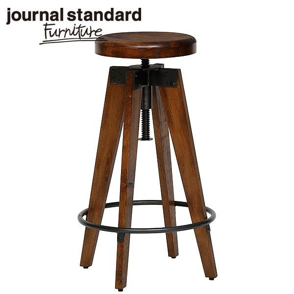 journal standard Furniture ジャーナルスタンダードファニチャー CHINON HIGH STOOL シノン ハイスツール ウッドシート 座面昇降 B00IFS