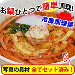 具材付き冷凍麺 かき揚げ梅うどん 麺 スープ 具材付!お鍋一つで出来る簡単便利なごちそう麺 7食以上で和歌山ラーメンプレゼント!