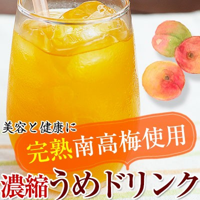 完熟梅ジュース(紀州南高梅使用)500ml 2倍濃縮タイプ 香り高く濃厚なコクのある梅ドリンク