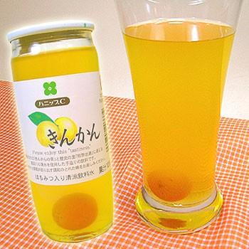 国産州 ハニップCきんかん(200g×15本入)【送料無料】りんご果汁とハチミツ入りのさわやかドリンク!甘酸っぱさが お口の中に広がるき
