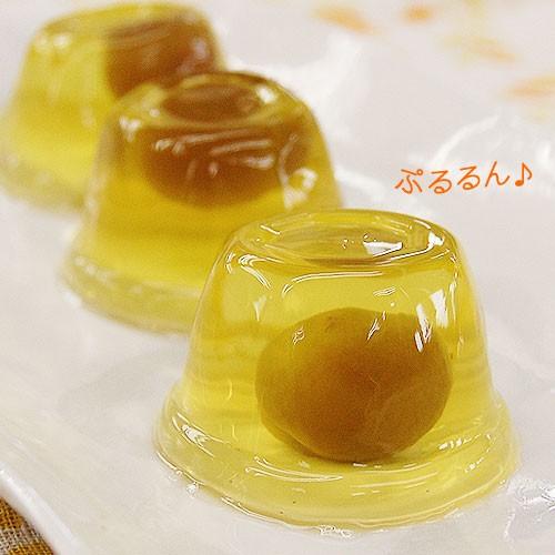 はちみつ小梅ゼリー 10個入小梅の甘露煮が丸ごと一粒入った甘酸っぱく、さわやかなひとくちゼリーです。