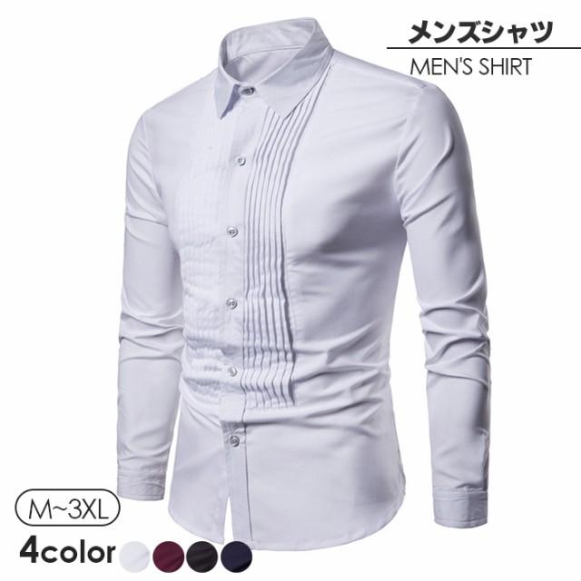 5fe5b0e6490ed ウイングカラーシャツ フォーマル メンズ 紳士用 ドレスシャツ ワイシャツ ダブルカフス ピンタック仕様 ウィングカラー