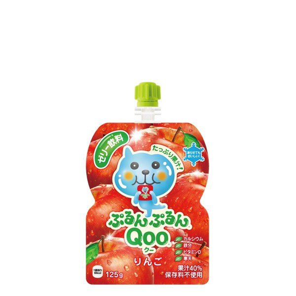 【2ケースセット】ミニッツメイドぷるんぷるんQoo りんご 125gパウチ(30本入) お彼岸 敬老の日 贈答