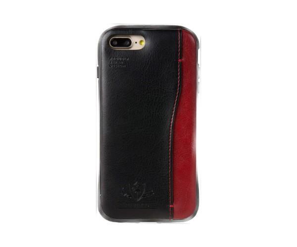 d0fe1ac33d Natural design iPhone 8PLUS 7PLUS (5.5インチ) 衝撃吸収背面ケース FLAMINGO Black ブラック