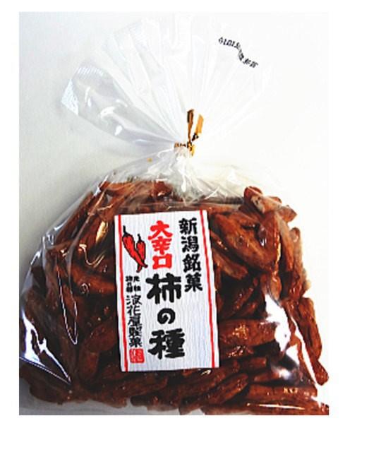 (送料無料)浪花屋製菓 巾着大辛口柿の種 140g×10袋