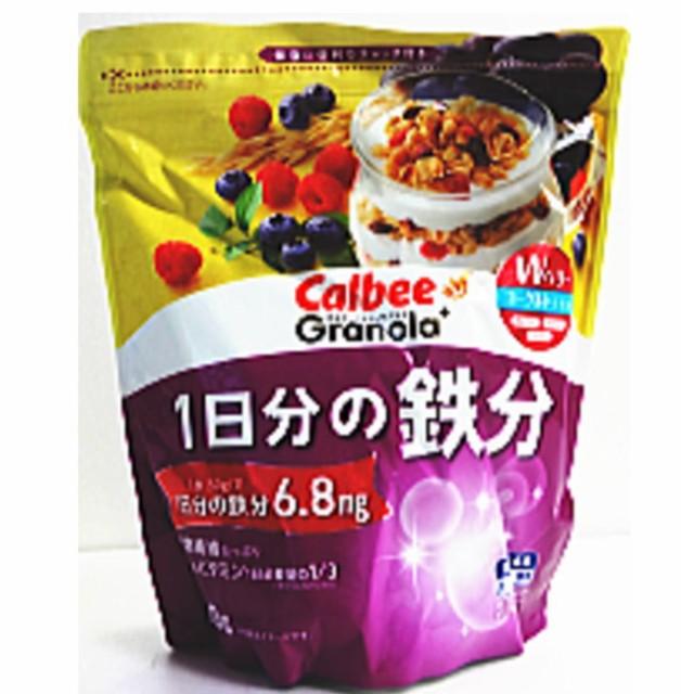 カルビー グラノーラプラス 1日分の鉄分 450g ×8袋