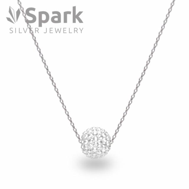 【送料無料】 Spark スパーク ネックレス パヴェボール スワロフスキー 社製 クリスタル Crystal 誕生日 ギフト プレゼント 通販