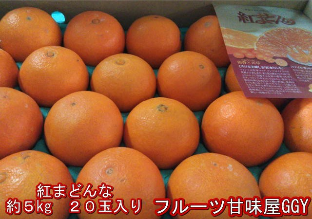 紅まどんな 約5kg(20玉入り) 愛媛産
