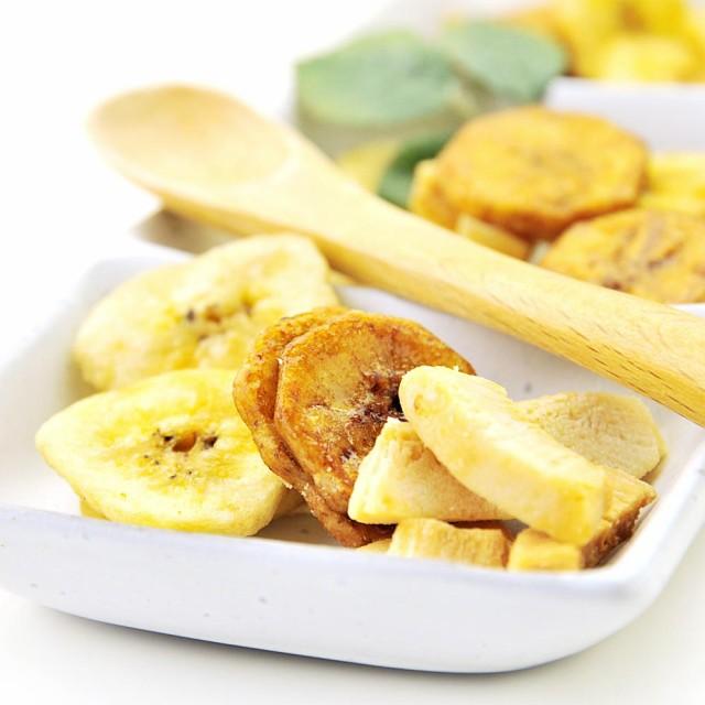 ロースト ココナッツ & 塩 バナナチップス お徳用 1kg 送料無料
