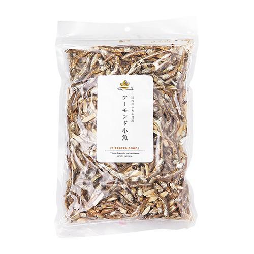【国内加工】国産片口いわし使用 アーモンド小魚 大容量430g 袋口チャック式 カルシウム豊富(1袋で1 022mg)おつまみ おやつ