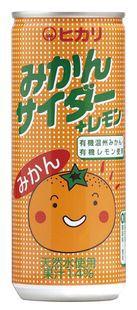 【ケース販売】ヒカリ みかんサイダー+レモン 250ml×30缶