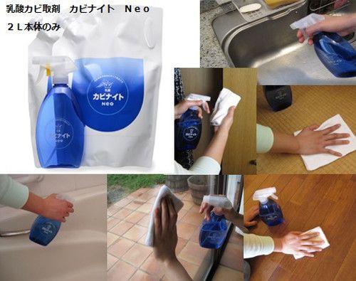 乳酸カビ取剤 カビナイト Neo 2Lx2個組 【カビ取り カビ取り剤 除菌洗浄剤 送料無料 浴室 おふろ バス 掃除用洗剤 プロ 風呂