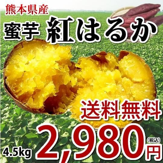 紅はるか さつまいも 送料無料 4.5kg 熊本県産 サツマイモ 紅蜜芋 焼き芋 芋 いも