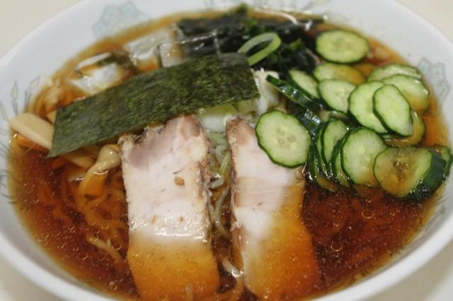山形名物冷やしラーメン チャーシューメンマ わかめ のり きゅうり ねぎ スープ450ml付き 東北関東送料無料 クール便 3食 中華 らーめ