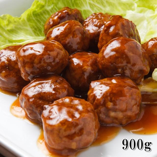 【国産 黒酢たれ ジャンボ肉だんご 大容量900g】美味しく味付け済の肉団子 業務用サイズでさらにお得 【冷凍】