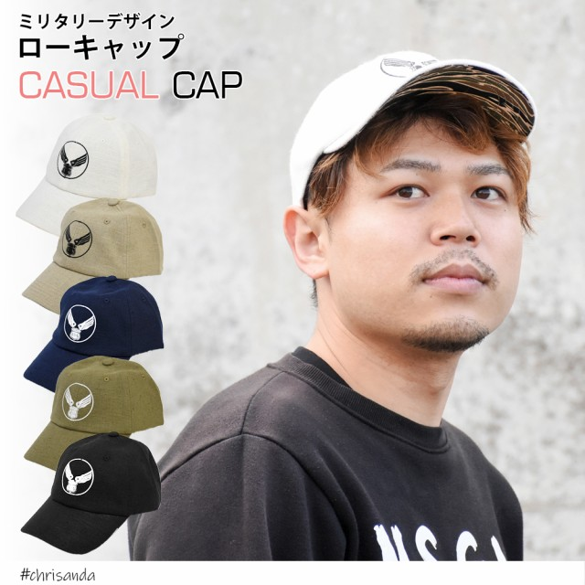 キャップ メンズ ブランド ローキャップ 男女兼用 帽子 ミリタリー ロゴ カモフラ柄 デザイン 無地 CAP アジャスター 付き ユニセックス