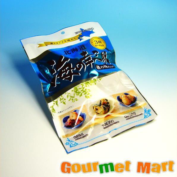 お取り寄せグルメ ギフト プレゼント 北海道 海の幸三昧(味付たこ/つぶ燻油漬/味付帆立貝)