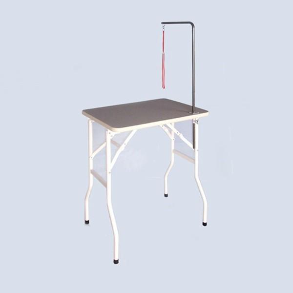純国産折りたたみ式テーブル トリミングテーブルミニ 固定式アーム付 W600×D450×H750mm ホームタイプ/サロン/人気