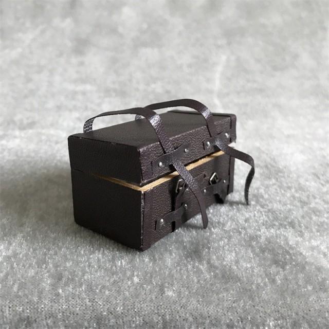 ミニチュア 雑貨 スーツケース トランク 旅行バッグ ケース 和風 ホビー 手芸 趣味 キット アメリカン ドールハウス インテリア おもち