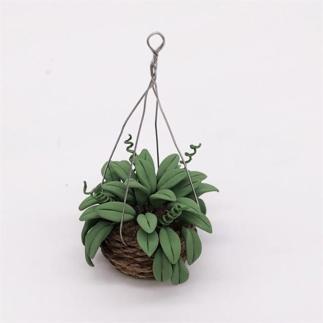 ミニチュア 雑貨 鉢植えグリーン 植物 鉢植え 葉っぱ 吊るし 和風 ホビー 手芸 趣味 キット アメリカン ドールハウス インテリア おもち