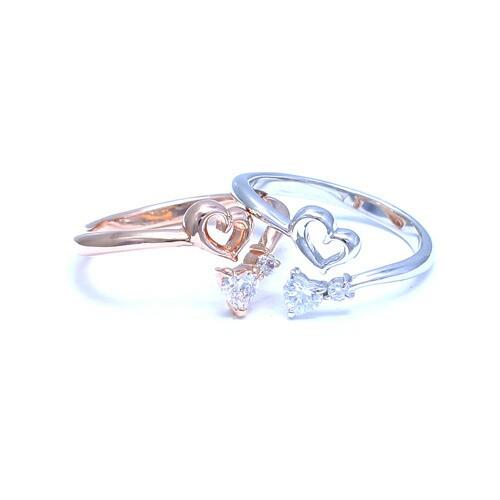 送料無料 プレゼントにも人気 結婚指輪 シルバーリング レディースリング ピンキー ピンキーリング フリーリング ハート オープンハート