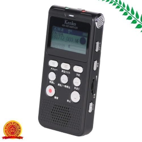 Kenko ICレコーダー KR-007AWFIRC 内蔵メモリ4GB FMAMワイドFMラジオ機能 簡易集音機能 microSD 単四形乾電池使用 [代引選択不可]