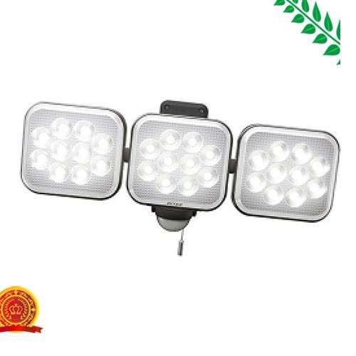 ムサシ RITEX フリーアーム式LEDセンサーライト(12W×3灯) 「コンセント式」 防雨型 LED-AC3036[代引選択不可]