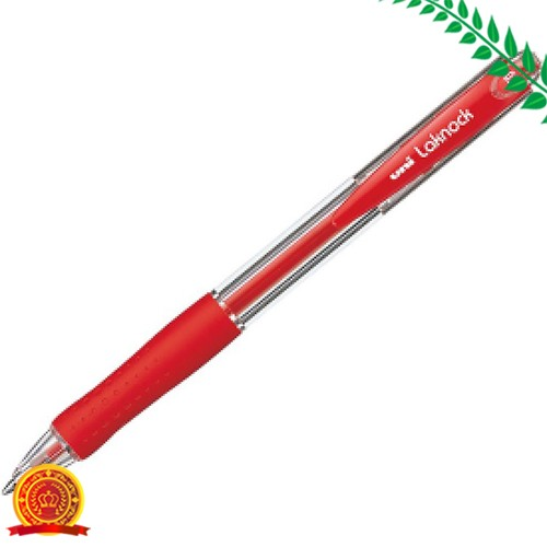 三菱鉛筆 油性ボールペン ベリー楽ノック 0.7 赤 SN10007.15[ゆうパケット対応商品][代引選択不可]