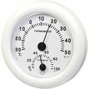 単品販売 クレセル スタンダード 温度計・湿度計 壁掛け・卓上両用 CR-103W ホワイト 1コ入 [代引選択不可]