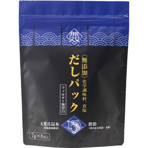 【ムソー 無添加・だしパック(本枯節・天然真昆布) 7g*8袋入】[代引選択不可]
