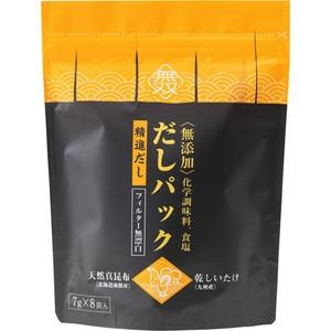 【ムソー 無添加・だしパック(天然真昆布・干し椎茸) 7g*8袋入】[代引選択不可]