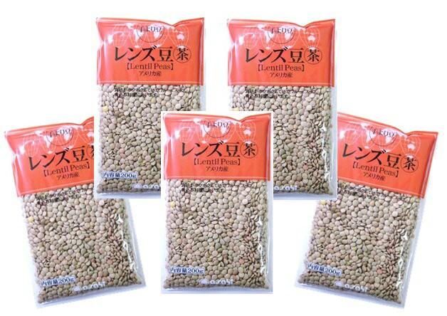 【宅配便送料無料】 豆力 豆専門店のレンズ豆(皮つき) 1Kg(200g×5袋)