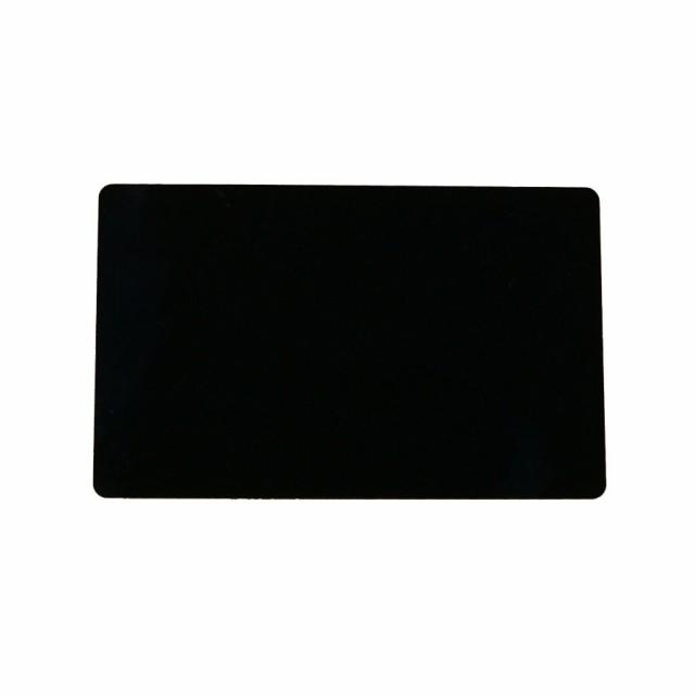 アルミニウムカード 86x54mm 黒 名刺サイズ 会員証 しおり メッセージカード ブラック