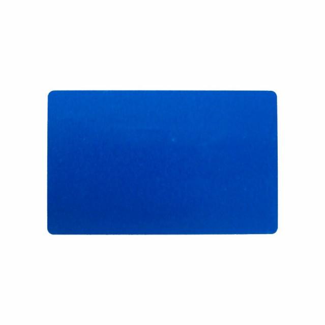 アルミニウムカード 86x54mm 青 名刺サイズ 会員証 しおり メッセージカード ブルー