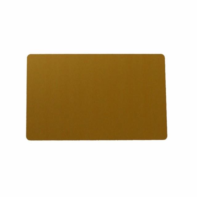 アルミニウムカード 86x54mm 金色 名刺サイズ 会員証 しおり メッセージカード ゴールド
