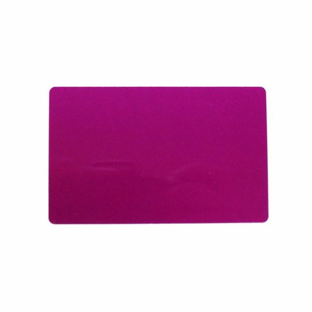 アルミニウムカード 86x54mm ピンク 名刺サイズ 会員証 しおり メッセージカード