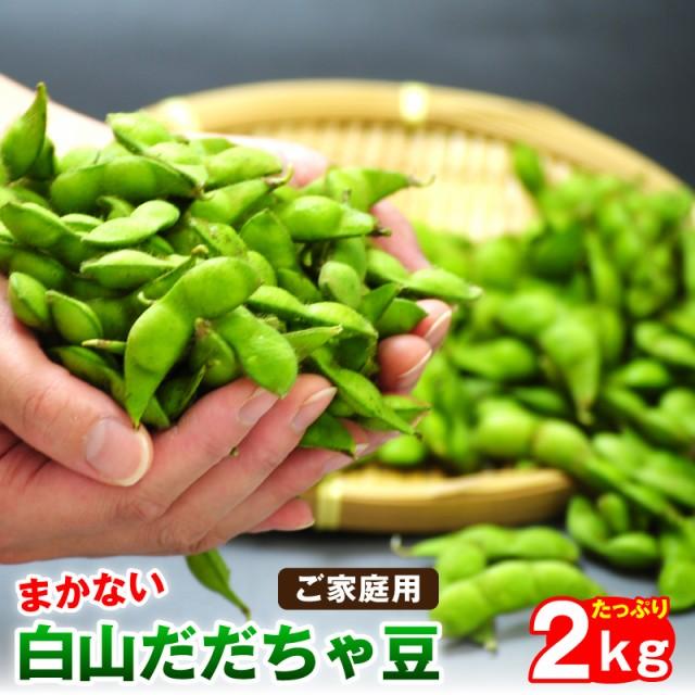 枝豆 訳あり白山だだちゃ豆2kg ご家庭用 山形県鶴岡市産 枝豆 えだまめ 送料無料