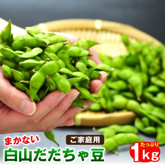 枝豆 訳あり白山だだちゃ豆1kg ご家庭用 山形県鶴岡市産 枝豆 えだまめ 送料無料